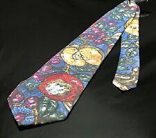 Fruit Tie Apple Food Chief VEGETARIAN clip on neck tie necktie red white blue