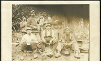 WW1 MEAL TIME FIELD FRENCH ARMY UNIFORM MILITARY RPPC PHOTO POSTCARD PC