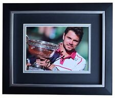 Stanislas Wawrinka SIGNED 10x8 FRAMED Photo Autograph Display Tennis Sport COA