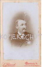 altes orig. s/w Foto Mann BÄUERLE SAARBURG ELSASS 1880 Vintage CDV