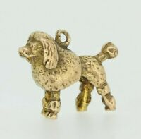 9ct Gold Charm - 9ct Yellow Gold Poodle Dog Charm