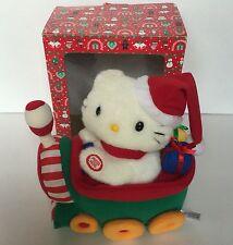 Vintage Sanrio Smile 2001 Hello Kitty Animated Musical Christmas Plush on Train