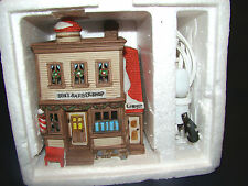 Dept 56 New England Village Ben'S Barber Shop w/ box @26