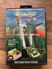 Megadrive:     MICRO MACHINES MILITARY   en boite     PAL FR