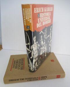 HISTORIA UNIVERSAL DEL HOMBRE by Erich Kahler, 1988 in DJ