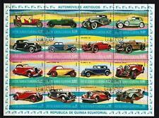 Voitures Guinée Equatoriale (30) série complète 16 timbres oblitérés