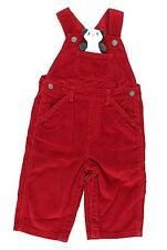 NWT GYMBOREE Boy Toddler Corduroy Cotton Snow Panda Red Overalls 6-12 Months  B1
