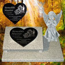 Grabstein Grabplatte Gedenkstein Motiv ca.60x40 Granit Engel Herz