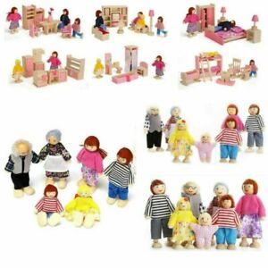 Cute Wooden Furniture Dolls House Miniature Room Set Doll Kids Children Toy Gift