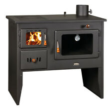 Wood Burning Stove Cast Iron Top Cooker Solid Fuel Oven & Boiler 16kW