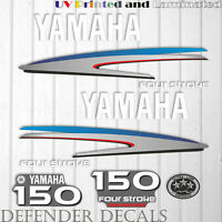 Yamaha 150 HP Four Stroke outboard engine decal sticker kit reproduction Printed