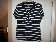 Bugle Boy For Her Womans Top Size Plus 2X  Cotton Blend Black and White