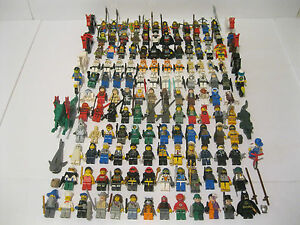 Huge Lego Minifigure Lot of 145 With Weapons and Accessories Star Wars DC Marvel