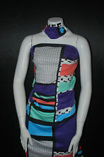 Modal Spandex French Terry Knit Fabric  Patchwork print multicolor nice 9.5 oz