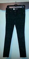 Womens Black Patterned Skinny Jeans Mossimo Premium Denim size 2 EUC
