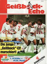 BL 90/91 1. FC Köln - FC St. Pauli