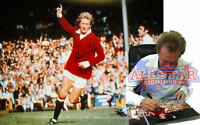 DENIS LAW SIGNED MANCHESTER UNITED 16x12 FOOTBALL PHOTO COA PROOF