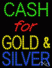 """NEW """"CASH FOR GOLD & SILVER"""" 26x20 SOLID/ANIMATED LED SIGN W/CUSTOM OPTION 21267"""