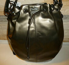 New coach Marielle 18820 patent leather pewter gray Madison shoulder bucket $428