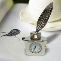 Minature Clocks Mini Color Silver Ink Bottle Birthday Gifts Presents Decorations