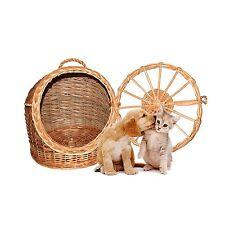 Pet Wicker Carrier Woven cat dog Transport Box Travel Box