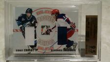 2004/05 ITG COMBOS SIDNEY CROSBY ALEX OVECHKIN DUAL JERSEY /90 BGS 9.5 VERY RARE