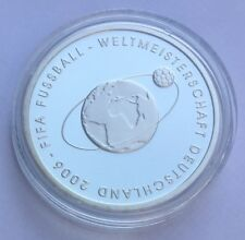 10€ Euro PP Münze Silber 2004 FIFA Fussball WM Deutschland 2006 Spiegelglanz