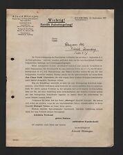 DUISBURG, Brief 1927, Arnold Böninger Rauch-Kau-Schnupftabak