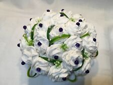 Artificial Flower Wedding Table Centrepiece Decoration Paper Flowers White
