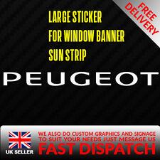 PEUGEOT GTI RACING Sticker Badge for Sun strip Vinyl Decal Banner Sponsor Visor