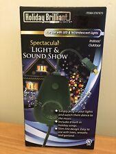 NWT~CHRISTMAS HOLIDAY BRILLIANT Light & Sound Show 8 Songs Christmas Carols