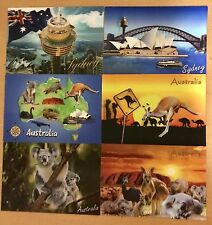 6X Cute Lenticular 3D Aus postcard Koala Kangaroo Opera House Harbour Bridge