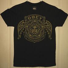 OBEY Premium Shirt S Golden Crest Design Propaganda Street Style OOP RARE HTF