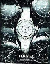 PUBLICITE ADVERTISING 056  2010  Chanel la montre J 12 MM