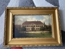 Ölbild Haus Schloss Herrschaftshaus Antik 1891 F. I. Dyck