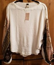 FREE PEOPLE WE THE FREE BLOSSOM THERMAL IVORY SIZE S NWT