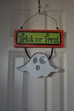 NEW Halloween Outdoor LIGHTED BANNER Decor TRICK or TREAT Sparkle Glitter CUTE