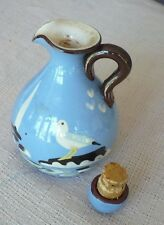 DEVON BABBACOMBE WARE SEAGULL PATTERN VINEGAR BOTTLE 5""