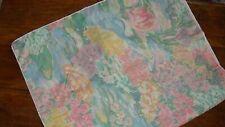 Claude Monet 1 King Pillow Sham Waterlilies Martex Giverny New W/O Pkg