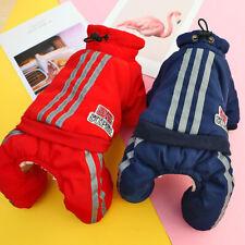 Reflective Dog Winter Clothes Pet Fleece Jumpsuit Waterproof Hooded Jacket XS-XL
