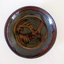 Lustre Glaze Stoneware Bowl with Fish Motif by J. Young, Melbourne, Australia