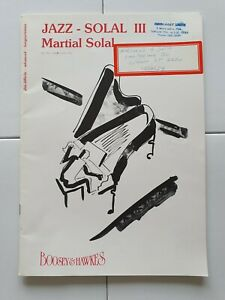 Jazz Solal III (3) - Martial Solal  Boosey & Hawkes Piano Solo Sheet Music.