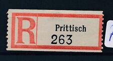 73279) Dt.Reich Reco-Zettel Prittisch
