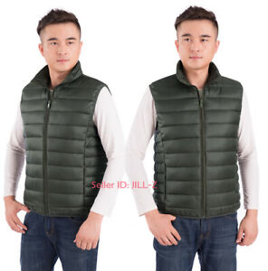 Men Warm Cotton Down Vest Quilted Coat Jacket Sleeveless Waistcoat Outwear L-4XL