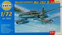 SMER Messerschmidt ME 262 B-1a/U1,Luftwaffe WW II,Düsenjäger,0834, Bausatz 1:72