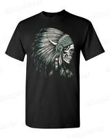 Headdress Skull T-Shirt Indian Native American Pride Indigenous Aztec Shirts