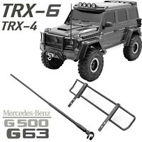 Metal Front Bumper Lever & Antenna for Traxxas TRX-4 Benz G500 TRX-6 G63 RC Car