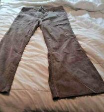 Rare 70s Levi's Corduroy Frt Zip Pockets Sz33 White Tab Brown Flared Bell Bottom