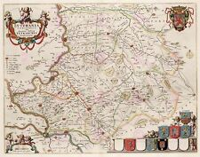 Map 1664 Van Loon Comm Zutphen County Netherlands Replica Canvas Art Print