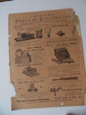 1893 Bubier's Popular Electrician Magazine Antique Electrical Popular Science